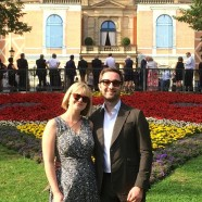 Andrew Dickinson and Joanna Foote at the Festspielhaus
